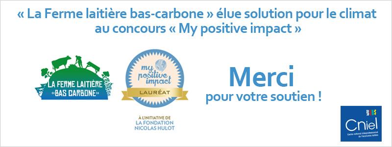 """My Positive Impact - La ferme laitière """"bas carbone"""" - Merci pour votre soutien"""