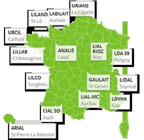 carte des laboratoires