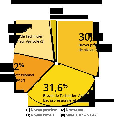 Diagramme des niveaux de formation à l'installation