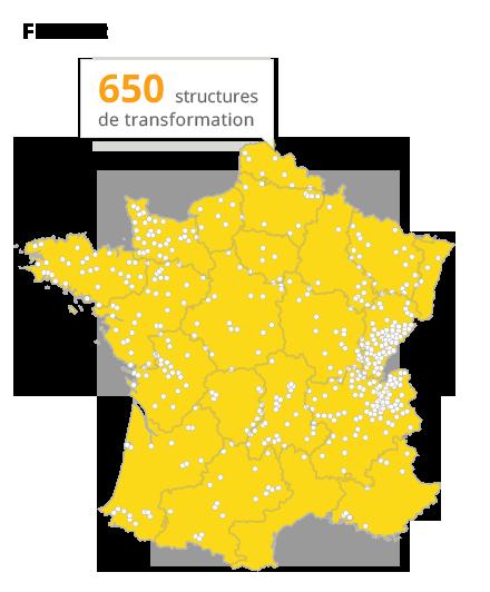 structures de transformation en France